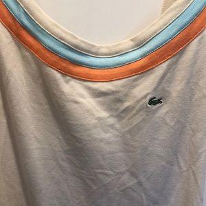 Lacoste Dresses - NWT Lacoste Tennis Dress - Tan, Orange and Blue